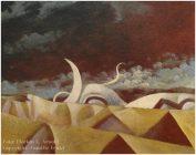 Gemälde von Georg Fenkl, 1970er Jahre, unbetitelt.