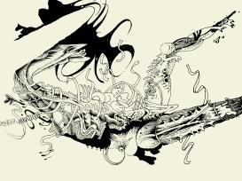 Anatomisch: Zeichnung auf Glas von Florian L. Arnold