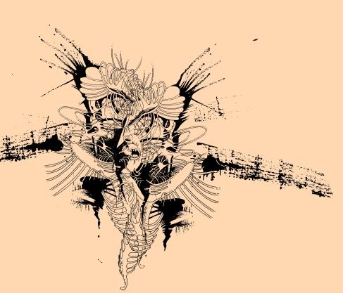 Medea: Zeichnung auf Glas von Florian L. Arnold