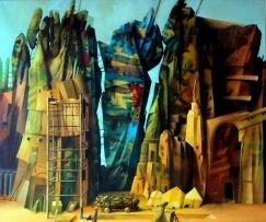 Babel 2: Ölbild von Georg Fenkl (Foto: Arnold)