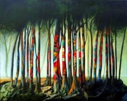 Der Wald ist bunt: Gemälde von Georg Fenkl.