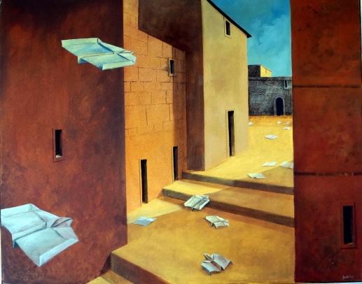 Einflugschneise: Gemälde von Georg Fenkl.