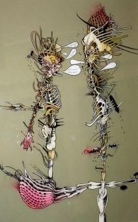 Vielleicht ein Verhältnis: Zeichnung auf Glas von Florian L. Arnold