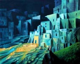 Nachtlicht: Gemälde von Georg Fenkl.