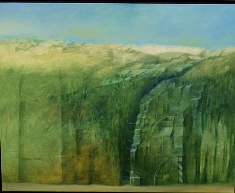 Schneise: Gemälde von Georg Fenkl.