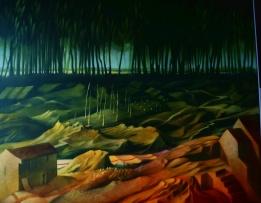Waldweg: Gemälde von Georg Fenkl.
