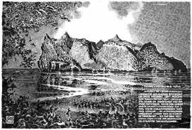 Zeichnung zum Roman von Thomas Pynchon Mason & Dixon.